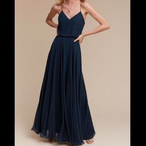 Jenny Yoo Inesse Navy Blue Bridesmaid Maxi